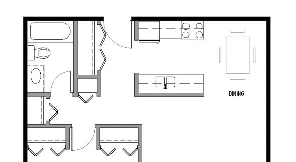 "Type ""I1″ Floor Plan"